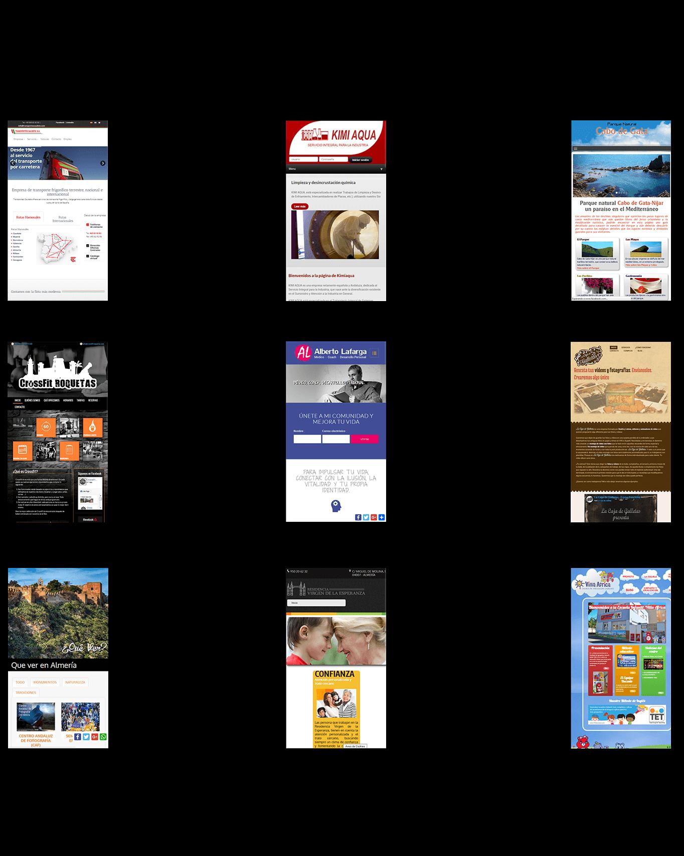 Páginas web Granada