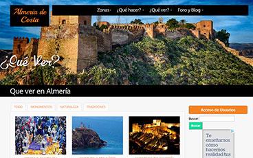 Diseño web pagina Almeria de Costa