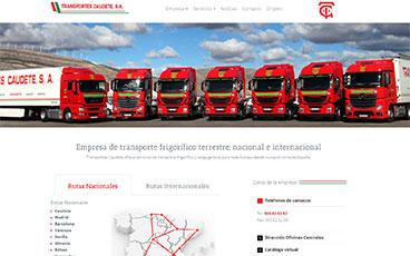 Diseño web pagina transportes caudete