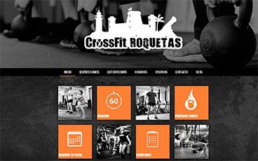 Diseño blog y página web gimnasio