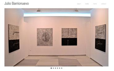 Diseño web artista Julio Barrionuevo