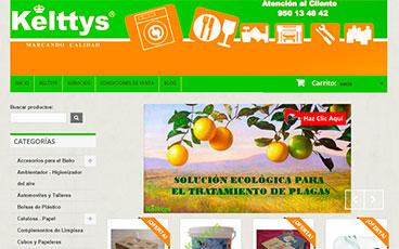 Diseño tienda online kelttys