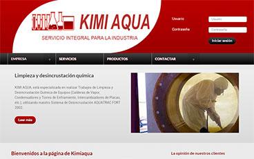 Diseño web pagina Kimi Aqua