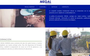 Página web Megal