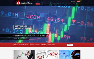 Diseño web pagina Sector bolsa