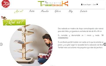 Diseño web tienda online Treebook